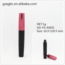 Elegante & vazio alumínio redondo tubo de rímel AG-YX-AM02 Net 1G, embalagens de cosméticos do AGPM, cores/logotipo personalizado