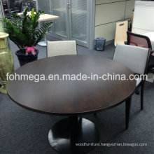 Very Solid Wood Veneered Modern Round Walnut Dining Table in High Quality
