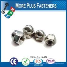 Made in Taiwan Edelstahl Nickel Messing Sechskant gewölbt Cap Nut Fin Thread