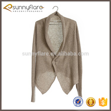 Wholesale pure cashmere knitted women cardigan coat
