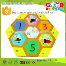 Wooden Math Learning Toys Bee Number Game Educational Toys