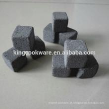 pedra de granito de lava, pedra Material e certificação FDA uísque pedra conjunto de 9