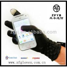 2013 neue Art Winter Leder intelligente Handschuhe für ipone