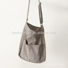 Nuevo bolso de compras largo del algodón de la correa del diseño