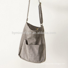 New design long strap cotton shopping bag