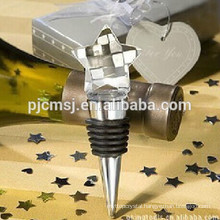 Wholesale star crystal wine stopper for wedding decoration
