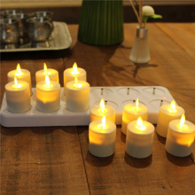 set of 12 Moving Flame Rechargeable Votive candles
