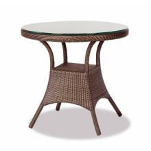 Muebles al aire libre de jardín de mimbre de la resina la mesa rota