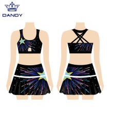 Customized team performance cheerleading uniforms