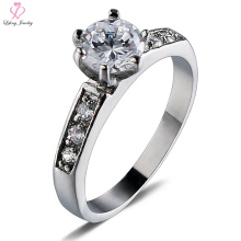 Women Stone Diamond Silver Titanium Steel Ring, Female Wedding Jewelry 316l Surgical Stainless Steel Ring
