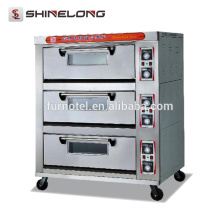 Guangzhou Commercial Stainless Steel 1-Layer 2-Tray Deck Oven With Steam