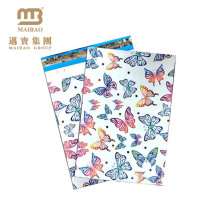 Waterproof Custom Butterfly Designer Printed Goods Shipping Use Decorative Plastic Mailing Bags