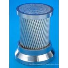 El hilo de acero revestido de zinc utilizado para ACSR cumple con IEC 61089
