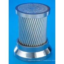 Le fil d'acier revêtu de zinc utilisé pour ACSR Conforme à CEI 61089