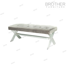 New Trend Product Fabric tufted clear acrylic bench