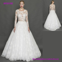 Luxury Wholesale Long Sleeves Sexy Design Muslim Wedding Dresses