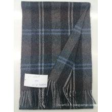 Écharpe de laine de couleur unie hommes chaud cachemire hiver