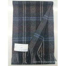 Inverno quente cashmere cor sólida sentir lenço de lã de homens