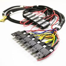 Komplizierter Kabelbaum des automatischen Relaissicherungskastens