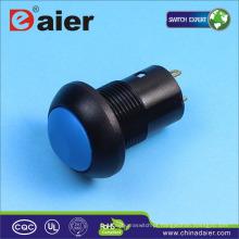 Interruptor de botão de 12mm com trava de plástico