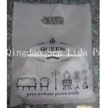 Custom Plastic HDPE Die Cut Garment Gift Shopping Bag