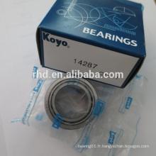 Meilleur prix Roulements à billes KOYO 14287 Sinotruk Howo Transmission Parts Reverse Intermediate Shaft koyo Bearing 14287