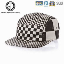 Tampão feito sob encomenda preto & branco feito sob encomenda do Snapback do campista com logotipo personalizado