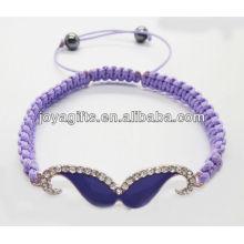 Purple enamel woven bracelet