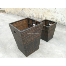 Outdoor Leisure Wicker Rattan Tall Plants Flower Boxes