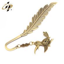 Marcador de la pluma de cobre antiguo de la antigüedad del grado superior de la fábrica de China con el colgante