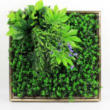 Los productos calientes uv protegieron el arte vertical del jardín de la pared con follaje