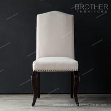 mobília do estilo do nailheads do interior da tela que janta a cadeira