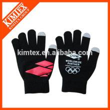 Unisex acrílico tricotar magia guantes personalizados con pantalla táctil