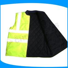 190T taffeta 140g padding winter warm cotton reflective vest