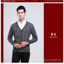 Lã de Iaque / Cashmere V Pescoço Pulôver Camisola de Manga Comprida / Tricô / Vestuário / Vestuário