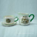 Handpainting ceramic creamer and sugar bowl set for wholesale