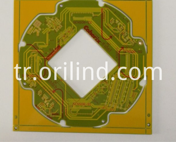 Yellow colour pcb board