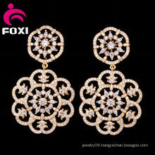 2016 Creative Fashion Jewelry Wholesale Double Flower Stud Hanging Earring