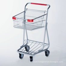 Double Basket Shopping Trolley