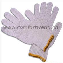 Gants de coton tricoté en pointillé