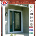 Decorative Glass 1/2 Lite Primed Steel Prehung Front Door