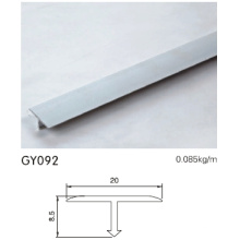 8.5cm Altura Alumínio T Forma Trim