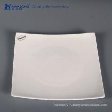 Чистая белая уникальная форма Креативная посуда, Bone China Итальянская посуда
