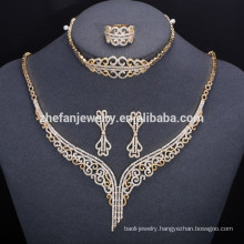 Factory Price Italian New Fashion Gold Plated Jewelry Set