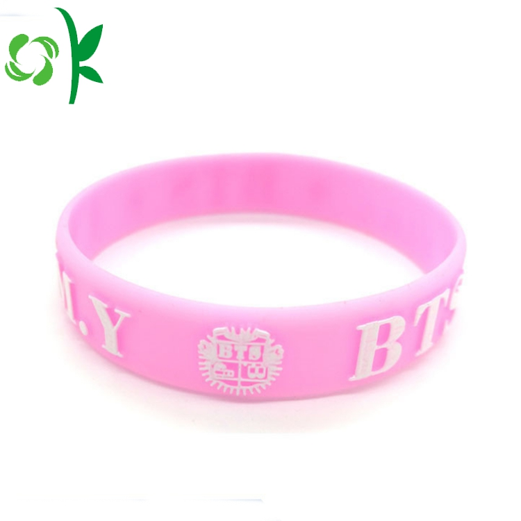 Pink Silicone Bracelets