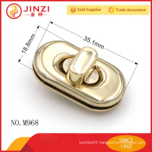 Simple style gold color trade assurance supplier handbags lock parts M968