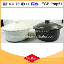FDA en grès rond en céramique Casserole