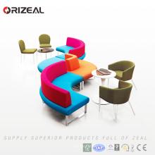 Sofa modulaire rond d'Orizeal Deft Design avec l'acier inoxydable (OZ-OSF027)