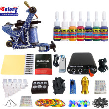 Solong TK105-72 Beginner Tattoo Kit with Tattoo Gun Power Supply Tattoo Kits With Needles