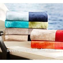 Роскошные Жаккардовые цвет блока полосой пляжное полотенце БТ-089